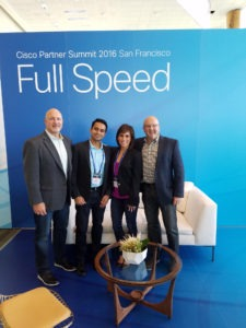 Dennis Dahl, Operations Director CISCO; Aman Arora, VP Operations, ANM; Isabella Yani, Regional Manager CISCO; Tom Scoggin, Regional Manager CISCO
