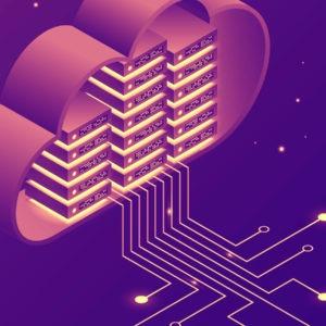 Cloud servers illustration