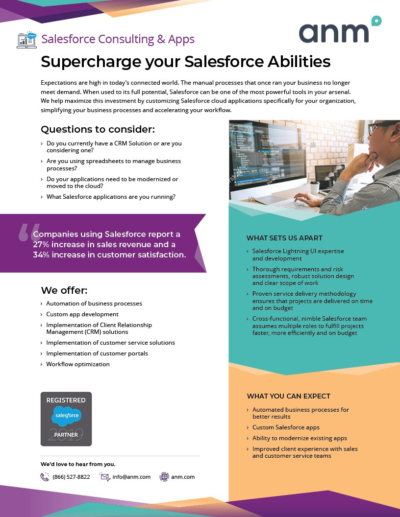 ANM Salesforce Consulting and Apps datasheet